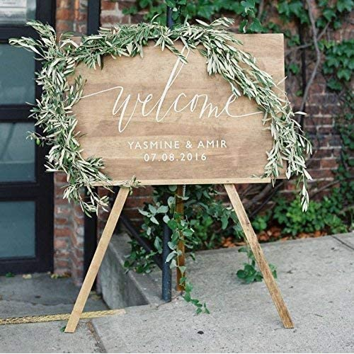 Welcome Wedding Sign With Stand: Amazon.com