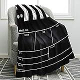 Jekeno Movie Clapboard Black Blanket Soft Warm Print Throw Blanket Ligtweight Durable Cozy for Movie Lover Adult Gift 50'x60'