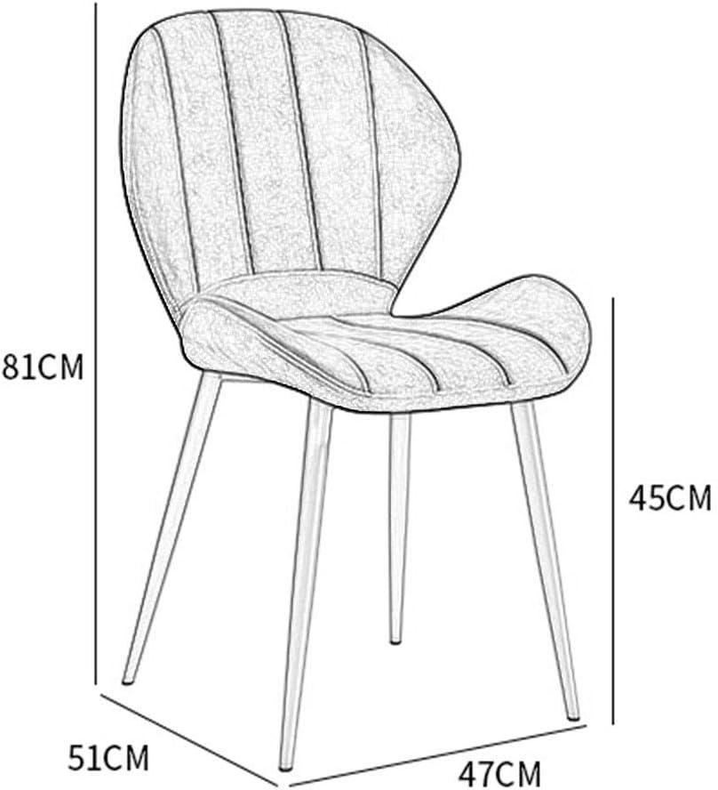 Ensemble de 4 pièces Chaises salle à manger Vintage, chaises en cuir PU Cuisine avec pieds en métal noir assise et le dossier for Office Lounge (Color : Brown) Brown