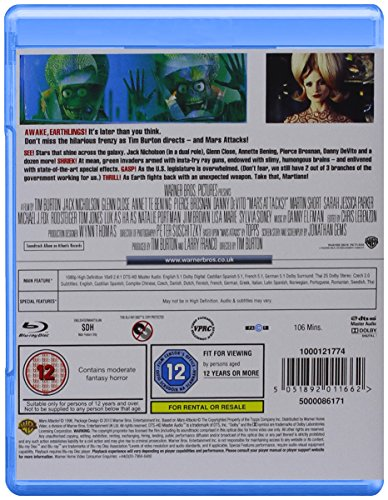 Mars Attacks [Blu-ray] [1996] [Region Free]