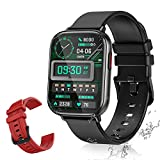 Smartwatch AMOLED 1,65 Zoll Touchscreen Sport Armbanduhr Fitness Tracker mit Herzfrequenz- Blutoxegen-Monitor ATM5 Wasserdicht mit Schrittzähler Schlafmonitor für Mann Frau für IOS Android