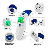 LQJCX Thermomètre auriculaire pour bébé, thermomètre numérique Multifonction avec thermomètre à Alarme pour Nourrissons, Enfants, Adultes, Animaux domestiques