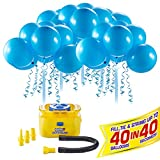 Bunch O Balloons Self Sealing Party Balloons with Portable Electric Air Pump - 40 Self-Sealing Blue Latex Balloons for Celebrations by Zuru