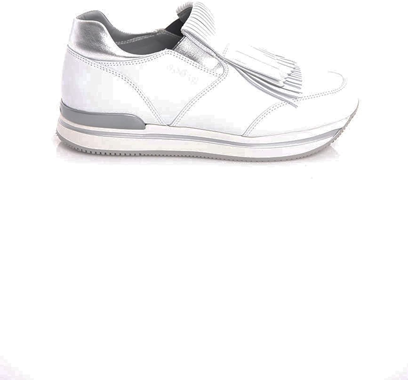 Hogan Sneakers H222 in Pelle Bianca con Frange, Donna, Taglia 38 ...