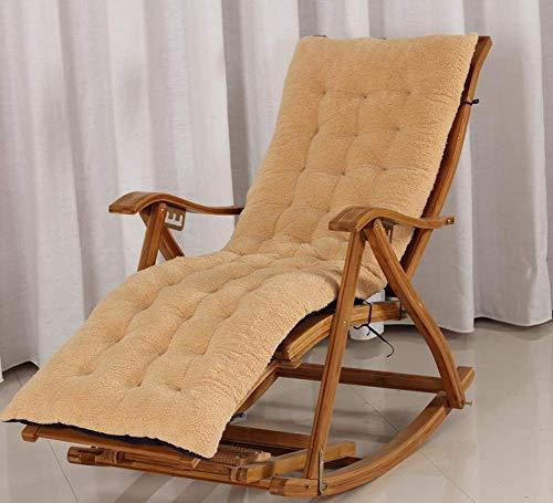 HFTD Cojín para Tumbona al Aire Libre, Funda reclinable de Viaje Relajante para Vacaciones, cojín de Repuesto para Silla de jardín y Patio, colchoneta Lavable con Lazo de fijación