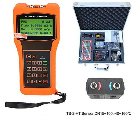Clicke Handheld Ultraschall-Durchflussmesser Digitaler Rohr Flüssigkeitsdurchflussmesser Mit Sensor Für Meerwasseralkohol Industrielle Abwasserwasser,E