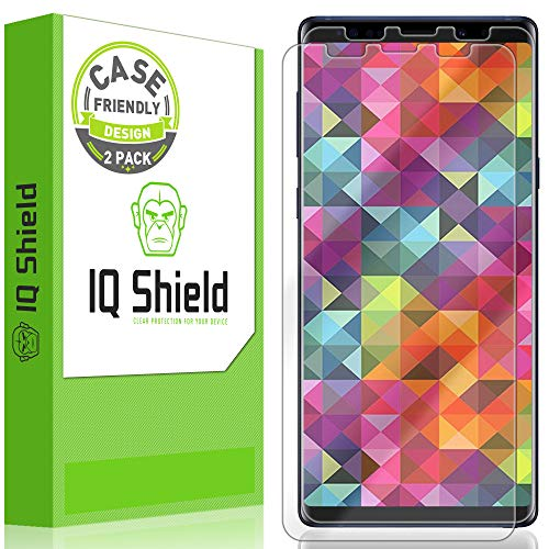 삼성 갤럭시 노트 9 (2 팩)와 호환되는 IQ 방패 화면 보호기 (케이스 친화적 인) 안티 버블 클리어 필름