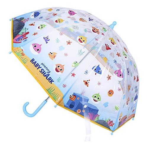 CERDÁ LIFE'S LITTLE MOMENTS - Transparenter Regenschirm von Baby Shark - Offizielle Nickelodeon-Lizenz, Farbe (2400000542)