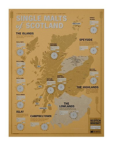 Single Malts of Scotland: A Whisky-Tasting Map of Scotland