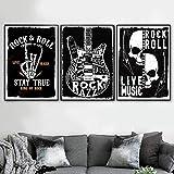WTYBGDAN Vintage Nordic Rock'n'Roll Live-Musik Gitarre