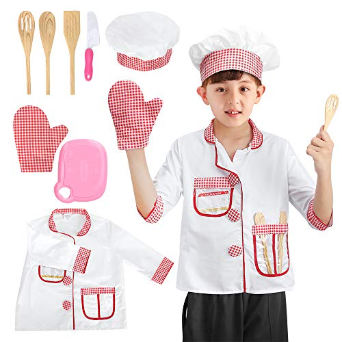 Kids Chef Costume Hat Kit Toys Kitchen Pretend Role Play Toys with Cooking and Baking Tools Sets,Edu - http://coolthings.us