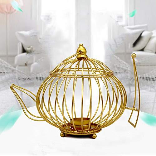 Bougeoir - Creux En Forme De Fil Teapot-Design Candlestick Dédicace Candlestick DéCoration Convient Pour DéCoration, Décoration Party, Accessoires Photo, Bars