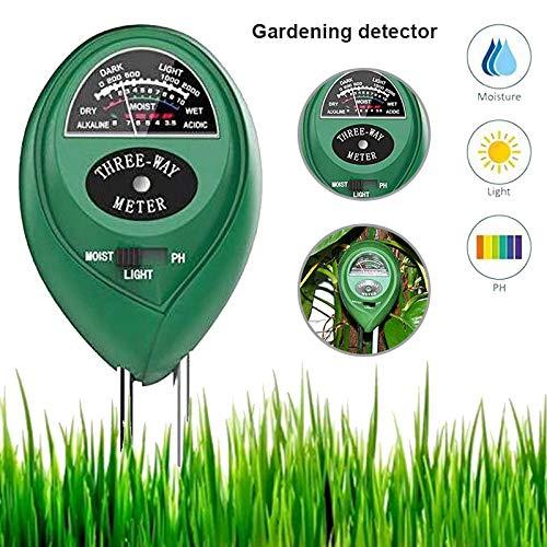 Herewegoo 3 in 1 pH-waarde licht vochtigheidsmeter vloertester licht- en pH-tester voor planten, bloemen, tuin, boerderij, lwan, bodemanalysator