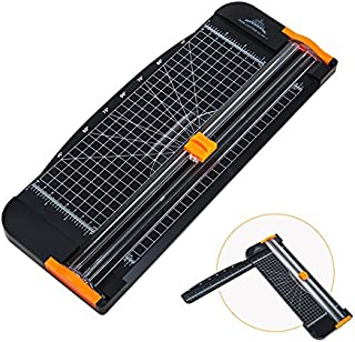 A4 Paper Cutter 12Inch, A4 Cutter Paper Trimmer Scrapbooking Tool with Automatic Security Safeguard and Side Ruler for Craft Projects, Wedding and Party Invitation Cards and Greeting Card