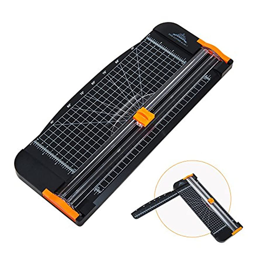 12 Inch Paper Trimmer A4 Paper Cutter Scrapbooking Tool with Automatic Security Safeguard and Side Ruler for Craft Paper,Coupon,Label and Cardstock