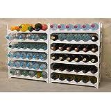 Grizzly Flaschenregal modular stapelbar - Weinregal für 72 Flaschen Regal-System weiß - 6