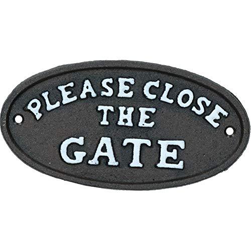AB Tools Veuillez Fermer la Porte en Fonte Noire Porte Plaque Signe Wall House Garden