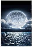 APAZSH Laminas para Cuadros Hermosas Cuadros de la Luna póster de Arte en Lienzo y Poster de Decoracion de impresión de Cuadros artísticas de Pared 60x90cm x1 Sin Marco