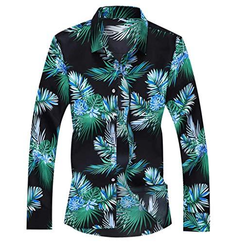 hemd herren hemden business freizeithemd männer oberhemden moderne casual anzughemden freizeit Mens-Herbst-Art- und Weisehemden beiläufige lange Hülsen-Strand-Oberseiten lösen beiläufige Bluse