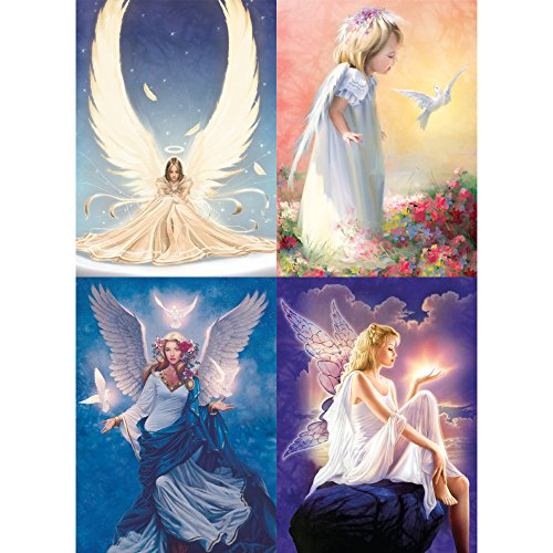 Tree-Free Greetings Angel All Occasion Card Assortment, 5 x 7 Inches, 8 Cards and Envelopes per Set (GA31441)