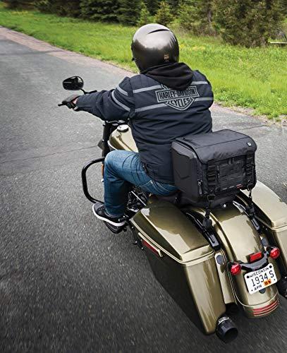 Kuryakyn 5295 XKursion XS Cube Motorcycle Travel Luggage: Weather Resistant Seat/Trunk/Rack Bag with Sissy Bar Straps, Black