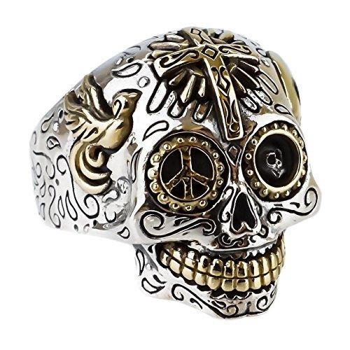 ジナブリング (JINA BRING) リング 指輪 シルバー925 メキシカンスカル クロス チベタンスカル 鳩 スマイルマーク メンズ レディース #21