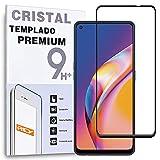 Protector de Pantalla Curvo para OPPO RENO5 Z 5G - A94 5G - A95 5G - 8 Pro - F19 Pro+ 5G, Negro, Cristal Vidrio Templado Premium, 3D / 4D / 5D, Anti Roturas
