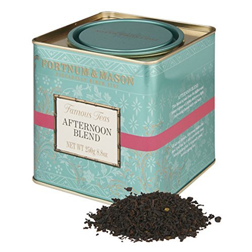 Fortnum and Mason British Tea, Afternoon Blend 250g Loose Tea in a Tin Caddy (1 Pack)