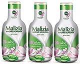 3x MALIZIA Bagnoschiuma Delicato Bio Aloe e Magnolia Schaumbad Aloe und Magnolie hautschonend...