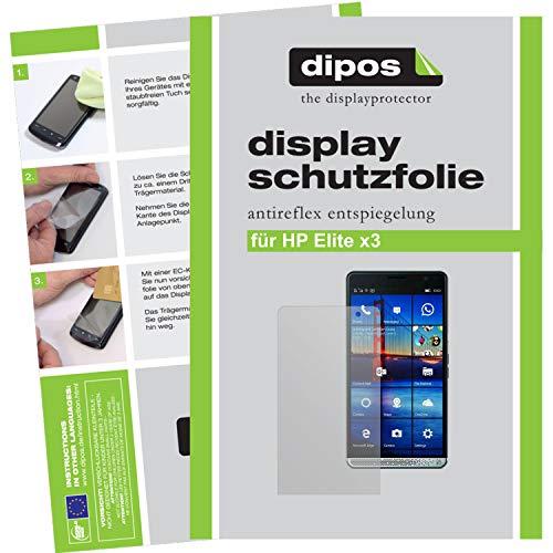 dipos I 6X Schutzfolie matt kompatibel mit HP Elite X3 Folie Bildschirmschutzfolie