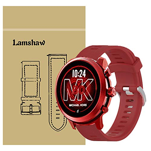 Compatible with Michael Kors MKGO Bands, Blueshaw Sport Replacement Strap Soft Silicone Straps Compatible for Michael Kors Access MKGO Smartwatch (Red)