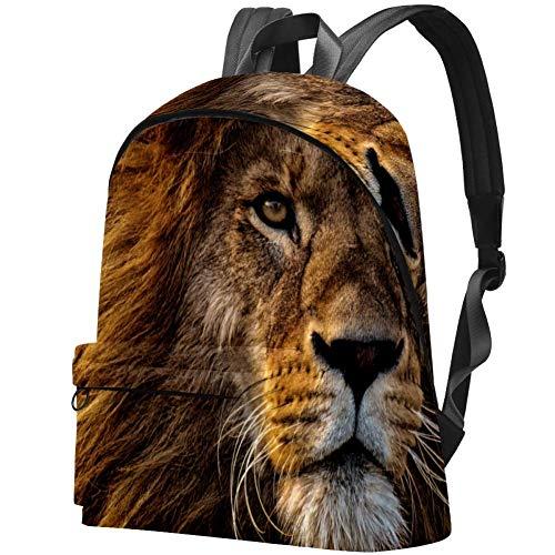 Big Backpack, Cool Lion Head Classic Large School Backpack, Daypack Rucksack Travel Hiking Daypack
