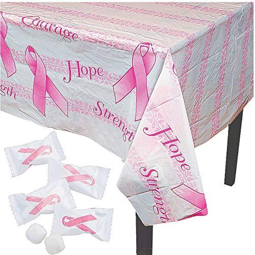 4E's Novelty Tischdecke für Brustkrebs-Bewusstsein mit 110 Butterminzen – Rosa Schleife Party Spendenaktion Zubehör Dekoration