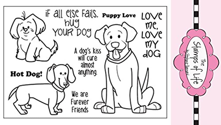 Cute Pet Dog Clear Rubber Stamps for Scrapbooking and Card-Making by The Stamps of Life - Friends4Cookie