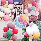 JWTOYZ Luftballons Pastell Groß 36 Zoll, 10 Stück Luftballons Pastellfarben 90cm Luftballons XXL Großfür Party Geburtstag Hochzeit
