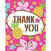Creative Converting Pink Luau Fun 8 Count Thank You Cards