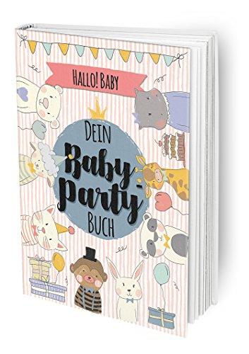 Hallo Baby - Das Baby-Party Buch für die beste Babyparty vor der Geburt mit allen Freundinnen der Mama und guten Wünschen, DIN A4 Buch mit Poster und Einladungskarten