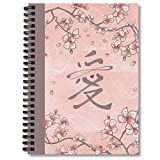 Wide Ruled Spiral Notebook Ten Journaling Miles Journal Of Planner Pink Notepad Peach Notebooks Blossoms Composition And Eternal Love Chinese Calligraphy Ii Wide Ruled Hexagon Paper Comic Book Bills