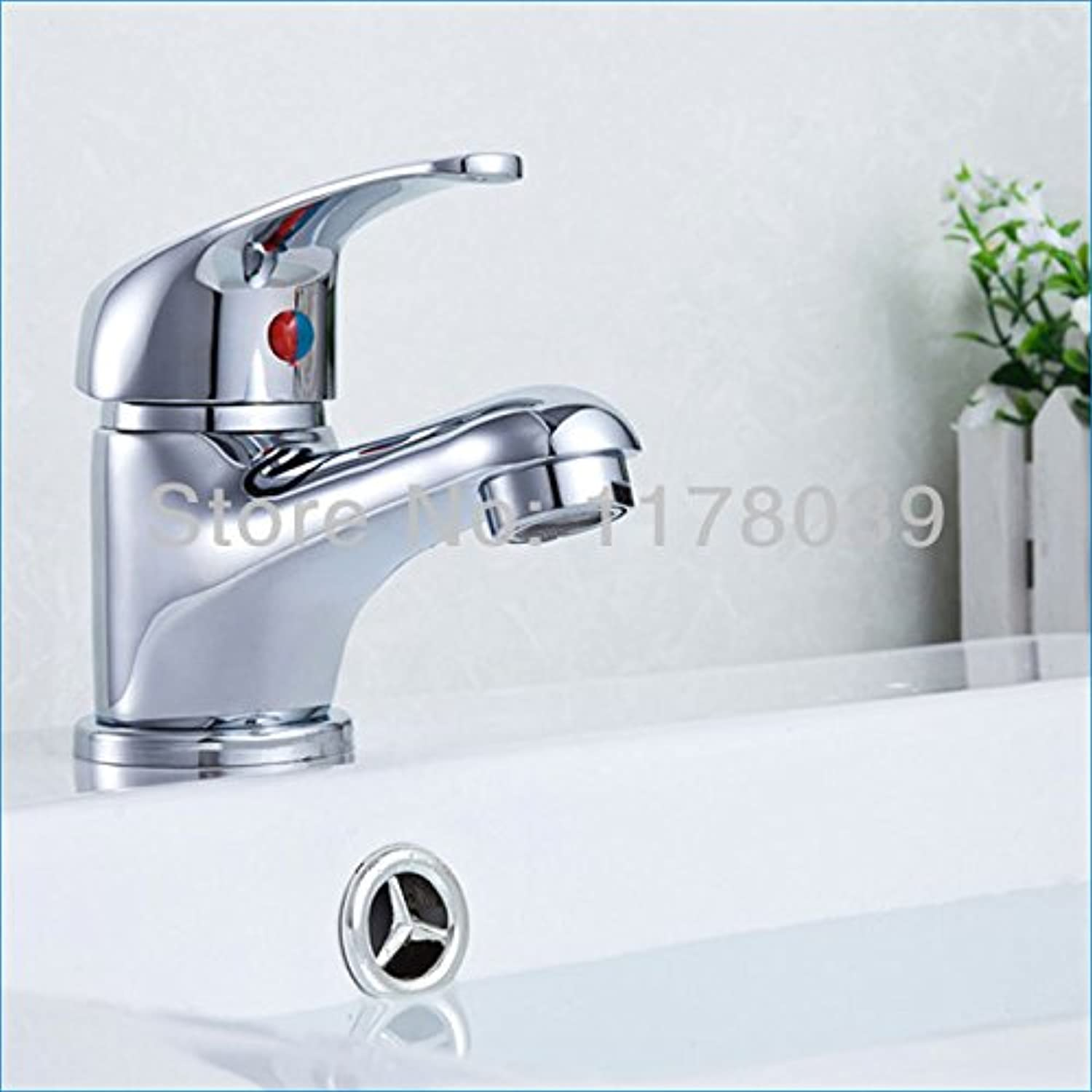 U-Enjoy Chrome Brass Bathroom Top Quality Faucets Mixers Wash Faucets Single Lever Hot and Cold Taps (Free Shipping)