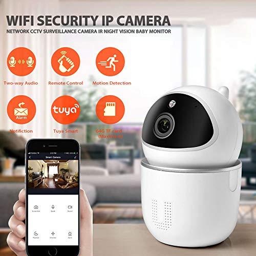 Draadloze bewakingscamera, doet babyfoon Huisdiercamera Indoor bewakingscamera Draadloos 1080P HD WiFi IP Pan/Tilt Nachtzicht Bewegingsgeluidsdetectie 2-weg audio Home Security