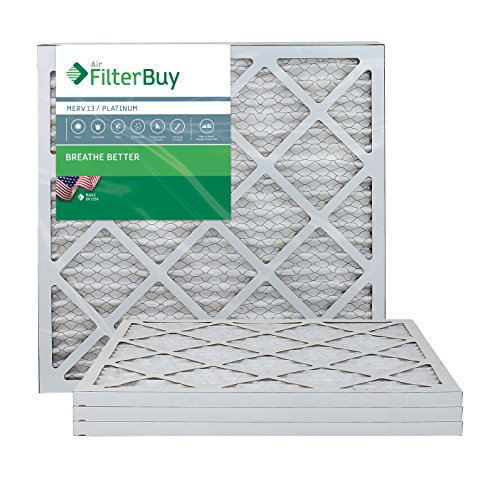 FilterBuy 20x20x1 MERV 13 Pleated AC Furnace Air Filter