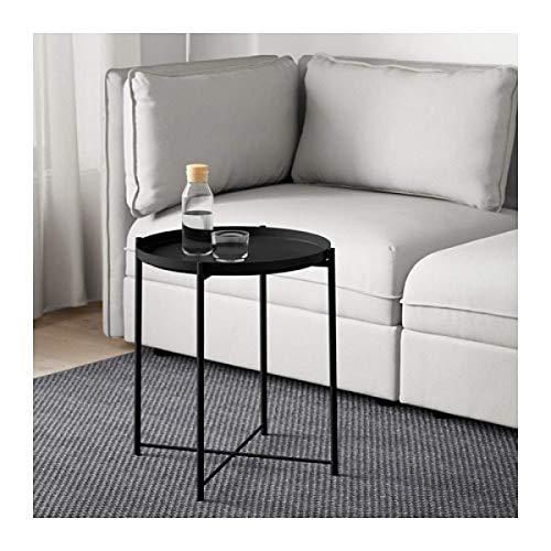 IKEA Gladom Tabletttisch schwarz 504.119.90 Größe 17 1/2x20 5/8