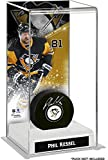 Phil Kessel Pittsburgh Penguins Deluxe Tall Hockey Puck Case - Hockey Puck Free Standing Display Cases
