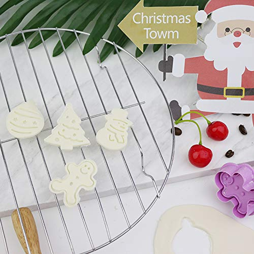 Chermyaaクッキー抜き型カッター4個製菓用品キッチンDIYプレスタイプ(クリスマス)