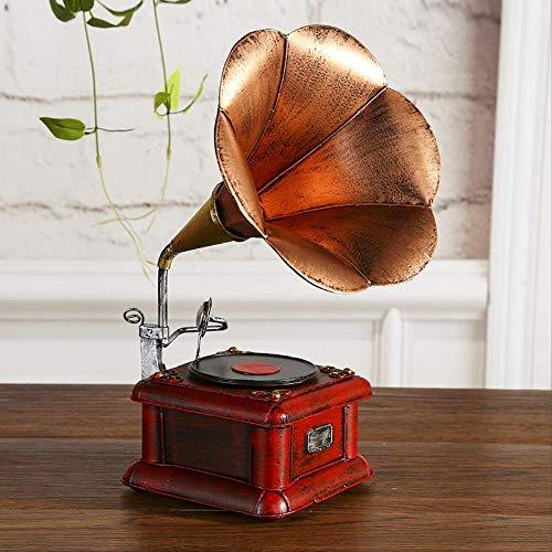Duyifan Vintage Grammofoon Retro Vinyl platenspeler antiek thuis metaal handwerk decoratie fotografie rekwisieten