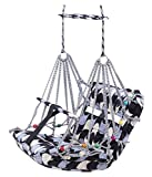 Didiz Cotton Swing for Kids, Chair Jhula for 1-3 Years Old Babies with Safety Belt, Washable and Folding Jhula, Home & Garden Children Jhula, Baby Swings for Indoor & Outdoor (Multicolour)