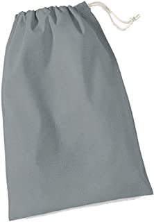 Westford Mill Cotton Stuff Bag - 0.25 To 38 Litres (UK Size: XL) (Pure Grey)