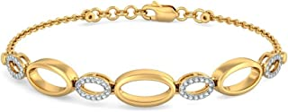 6.25 inches identification-bracelets Size IJ| SI 0.28 cttw Round-Cut-Diamond 18K Yellow Gold