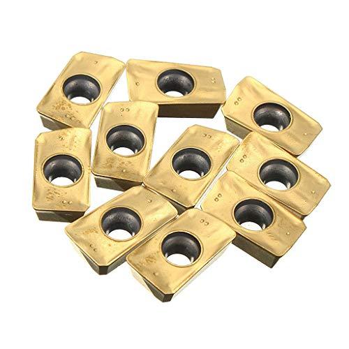 GUOSHUCHE Torno Accesorios 10x Torno de trabajo de torneado APMT1135PDER -BP010 Gold Herramientas de mano
