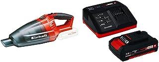 Einhell 2347120 Aspiradora de mano Negro, Rojo + 4512040 Kit con Cargador bater?a de Repuesto, tiempo de carga: 30 Minutos
